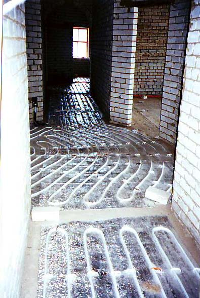 Теплые полы из металлопластика.